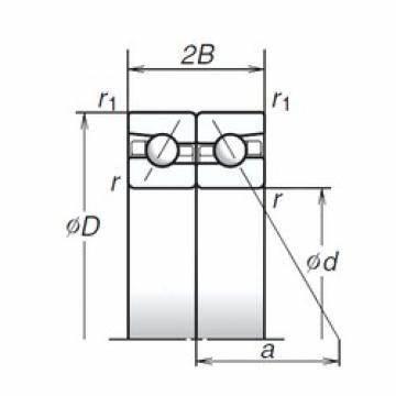 SNR MLE7006CVUJ84S super-precision Angular contact ball bearings