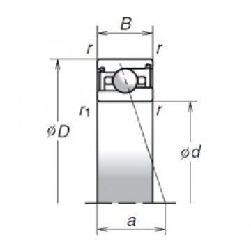 SNR CH.7004C.VUJ84 High precision angular contact ball bearings